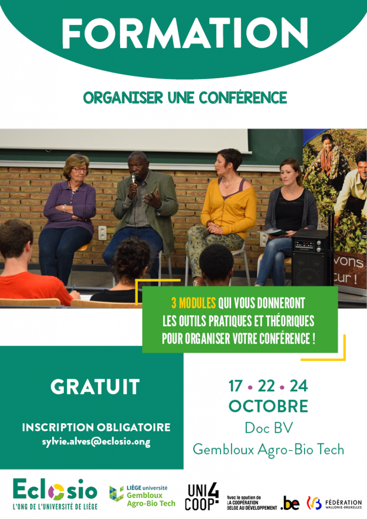 Eclosio_Formation_Organiser une conférence