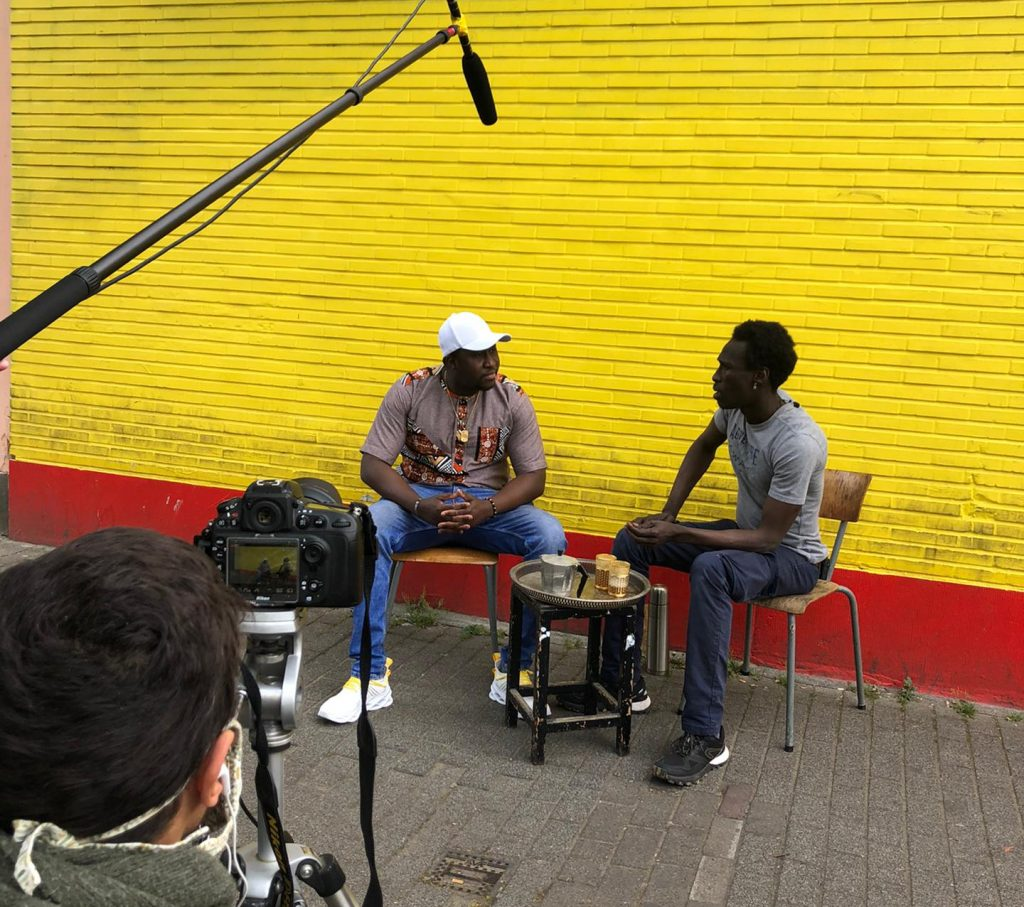Diaspora en action - tournage outil d'information - Eclosio