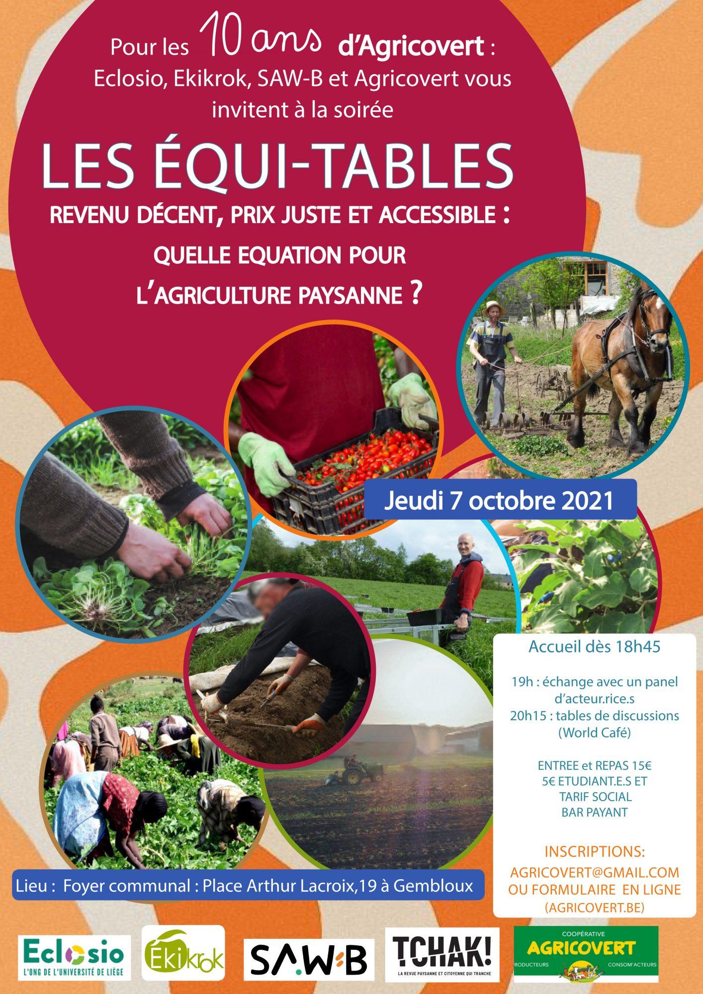 Les Equi-tables 2021 : conférence et repas (World Café)